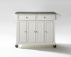 Granite Top Kitchen Cart/Island in White - Crosley - KF30003EWH
