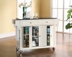 Granite Top Kitchen Cart/Island in White - Crosley - KF30004EWH