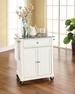 Granite Top Portable Kitchen Cart/Island - Crosley - KF30023EWH