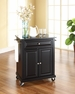 Granite Top Portable Kitchen Cart/Island - Crosley - KF30024EBK