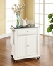 Granite Top Portable Kitchen Cart/Island - Crosley - KF30024EWH