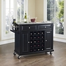 Granite Top Wine Cart in Black - Crosley - KF31003EBK
