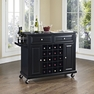Granite Top Wine Cart in Black - Crosley - KF31004EBK