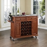 Granite Top Wine Cart in Cherry - Crosley - KF31003ECH