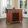 Granite Top Wine Cart in Cherry - Crosley - KF31004ECH