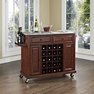 Granite Top Wine Cart in Mahogany - Crosley - KF31003EMA