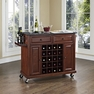 Granite Top Wine Cart in Mahogany - Crosley - KF31004EMA