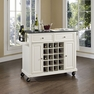 Granite Top Wine Cart in White - Crosley - KF31004EWH
