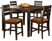 Killarney 5-PC Counter Height Dining W/ Ladder Back Stools - Hillsdale - 5381CTBSL5