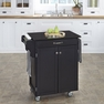 Kitchen Cart in Black with Black Granite - Home Styles - 9001-0044