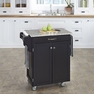 Kitchen Cart  in Black with Granite Top - Home Styles - 9001-0043