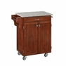 Kitchen Cart in Cherry with Granite Top - Home Styles - 9001-0073