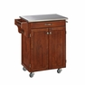 Kitchen Cart in Cherry with Stainless Top - Home Styles - 9001-0072