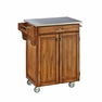 Kitchen Cart in Oak with Stainless Top - Home Styles - 9001-0062