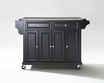 Kitchen Cart/Island in Black - Crosley - KF30002EBK
