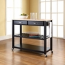 Kitchen Cart/Island in Black - Crosley - KF30051BK