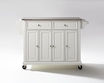 Kitchen Cart/Island in White - Crosley - KF30002EWH