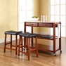Kitchen Cart/Island w/ Saddle Stools - Crosley - KF300514CH