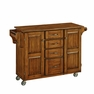 Kitchen Cart Warm Oak Finish w/ Oak Top - Home Styles - 9100-1066G