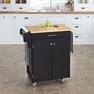 Kitchen Cuisine Cart in Black with Wood Top - Home Styles - 9001-0041