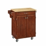 Kitchen Cuisine Cart in Cherry with Wood Top - Home Styles - 9001-0071