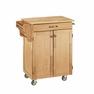 Kitchen Cuisine Cart in Natural with Wood Top - Home Styles - 9001-0011