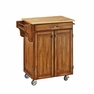 Kitchen Cuisine Cart in Oak with Wood Top - Home Styles - 9001-0061