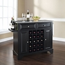 Lafayette Granite Top Wine Island in Black - Crosley - KF31003BBK