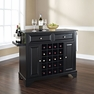 Lafayette Granite Top Wine Island in Black - Crosley - KF31004BBK