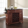 Lafayette Granite Top Wine Island in Mahogany - Crosley - KF31004BMA