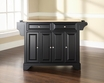 LaFayette Kitchen Island in Black - Crosley - KF30001BBK