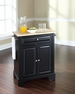 LaFayette Portable Kitchen Island in Black - Crosley - KF30021BBK