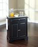 LaFayette Portable Kitchen Island in Black - Crosley - KF30022BBK