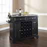 Lafayette Stainless Steel Wine Island in Black - Crosley - KF31002BBK