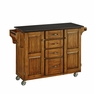 Large Kitchen Cart  in Oak with Black Granite Top - Home Styles - 9100-1064