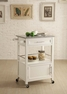 Mitchell Kitchen Cart With Granite Top - Linon Home Decor - 464808WHT01U
