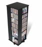 Multimedia Storage Tower - 4 Sided in Black - PREPAC - BMS-0800