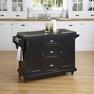 Nantucket Distressed Black Kitchen Cart - Home Styles - 5033-95
