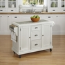 Nantucket Distressed White Kitchen Cart - Home Styles - 5022-95