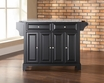 Newport Granite Top Kitchen Island in Black - Crosley - KF30003CBK