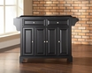 Newport Granite Top Kitchen Island in Black - Crosley - KF30004CBK