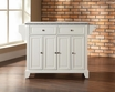 Newport Granite Top Kitchen Island in White - Crosley - KF30003CWH
