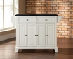 Newport Granite Top Kitchen Island in White - Crosley - KF30004CWH