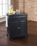 Newport Granite Top Portable Kitchen Island in Black - Crosley - KF30024CBK