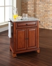Newport Granite Top Portable Kitchen Island in Cherry - Crosley - KF30023CCH