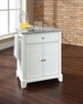 Newport Granite Top Portable Kitchen Island in White - Crosley - KF30023CWH