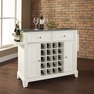 Newport Granite Top Wine Island in White - Crosley - KF31003CWH