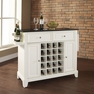 Newport Granite Top Wine Island in White - Crosley - KF31004CWH