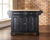 Newport Kitchen Island in Black - Crosley - KF30001CBK