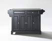 Newport Kitchen Island in Black - Crosley - KF30002CBK